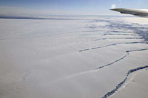Antarctic glacier calves iceberg one-fourth size of Rhode Island