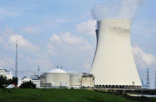 A nuclear plant in Doel, north of Antwerp, Belgium, is pictured on August 9, 2012