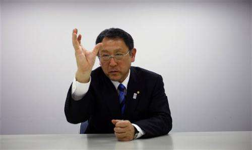 9de044c348ed Interview  Toyota chief stresses safe growth