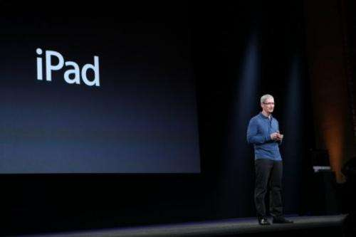 Apple CEO Tim Cook speaks on October 23, 2012 in California