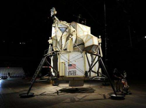 "Art installation ""Landing Excursion Module (LEM),"" part of  ""SPACE PROGRAM: MARS"" by artist Tom Sachs May 16"