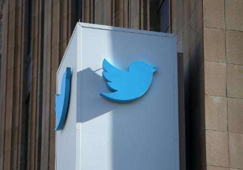 A sign posted outside of the Twitter headquarters on October 25, 2013 in San Francisco, California