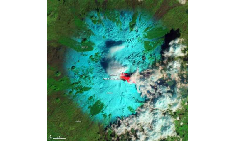 As seen from space: Mt. Etna boils over