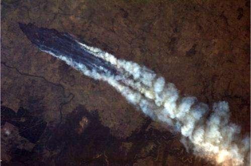Astronaut captures incredible images of Australian bush fires