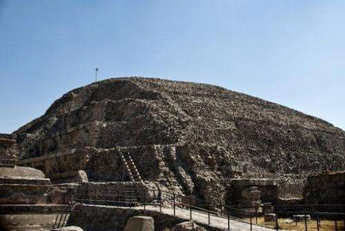 A view of the temple of the Feathered Serpent at the archaeological site of Teotihuacan, March 24, 2011