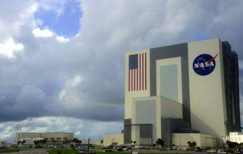 A view of the Vehicle Assembly Building on September 11, 2009 at the Kennedy Space Center in Florida