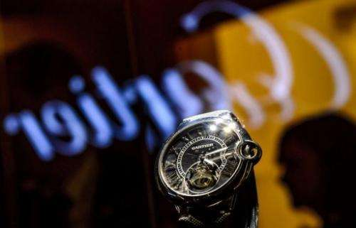 A watch by Cartier, is displayed at the  Salon International de la Haute Horlogerie (SIHH), January 21, 2013 in Geneva
