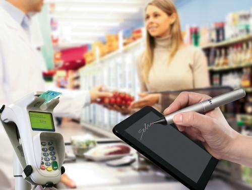 Bank card identifies cardholder