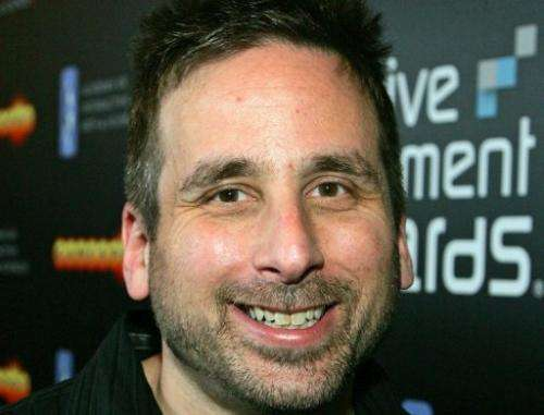 BioShock lead designer Ken Levine is pictured on February 7, 2008 in Las Vegas, Nevada