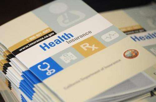 Booklets outlining health insurance options for Californians seen in South Gate, California on September 10, 2013