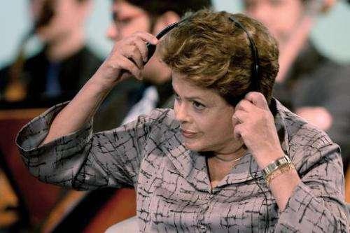 Brazilian President Dilma Rousseff in Brasilia on October 8, 2013
