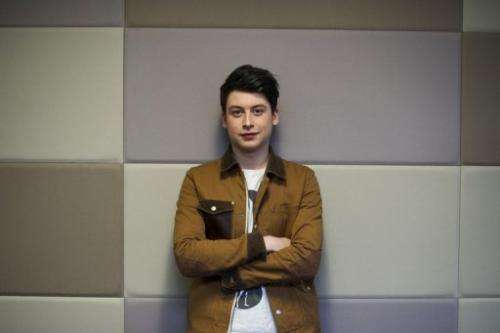 Briton Nick D'Aloisio, who sold his mobile news reader app Summly to Yahoo! is pictured in London on March 26, 2013