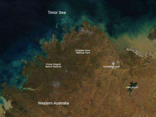 Bushfires in north of Western Australia