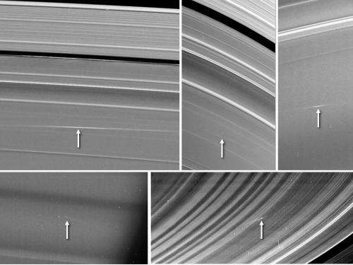 Cassini observes meteors colliding with Saturn's rings