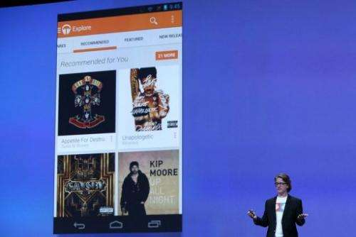 Chris Yerga, Google engineering director for Android, announces the new Google Play Music All Access on May 15, 2013
