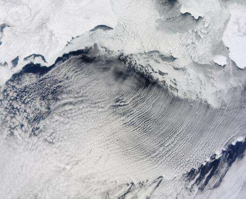 Cloud Streets over the Bering Sea