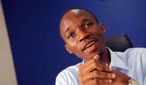 Co-founder of the Nigerian job-finder site Jobberman, Ayodeji Adewunmi, speaks on June 17, 2013 at company headquarters