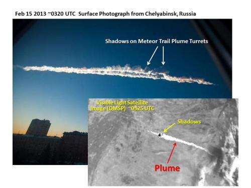 Colorado State University scientists identify visible, infrared imagery left by meteor across Russia