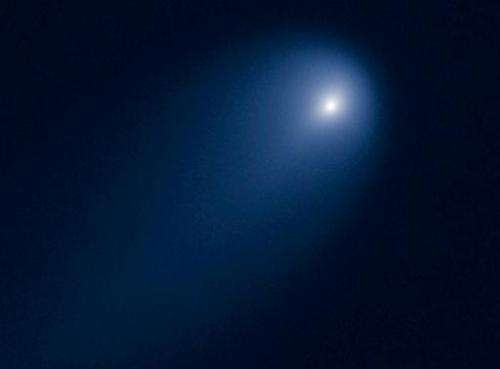 Comet ISON caught on camera by NASA's Hubble Space Telescope on April 10, 2013, when it was 394 million miles from Earth