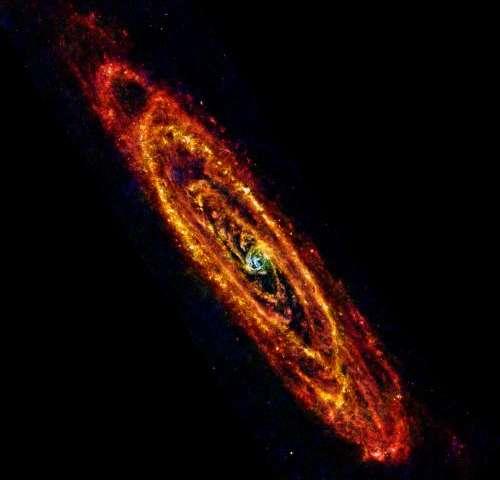 Cool, new views of Andromeda galaxy
