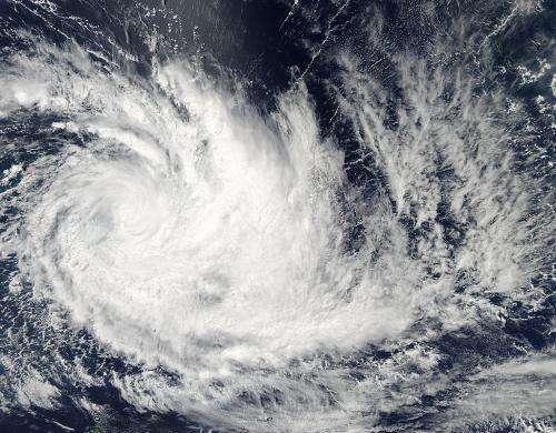 Cyclone Imelda turned the corner on NASA satellite imagery