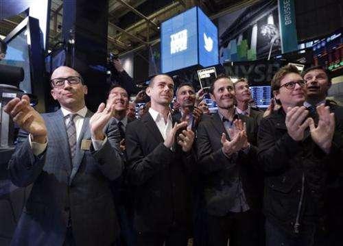 Dazzling Twitter debut sends stock soaring 73 pct