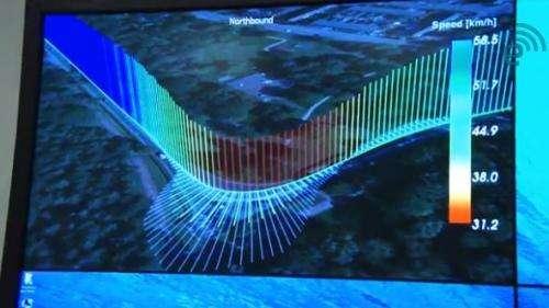 Nokia's map data reveals flow of highway life