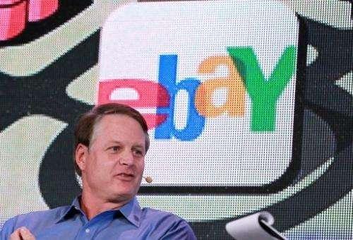 eBay CEO John Donahoe speaks on October 17, 2011 in San Francisco