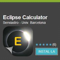 Eclipse Calculator: A new application to simulate eclipses on your mobile