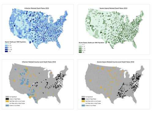 Research identifies infection and sepsis-related mortality hotspots across the US