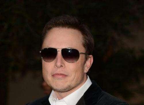 Elon Musk is seen on September 29, 2012, in Burbank, California