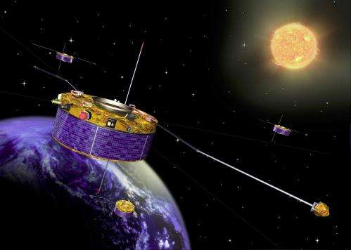 ESA's Cluster satellites in closest-ever 'dance in space'