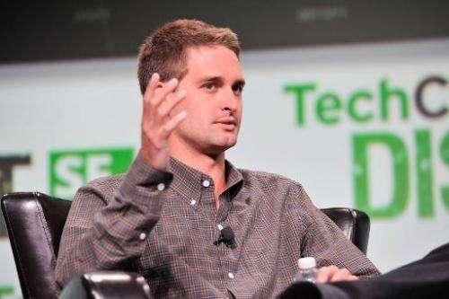 Evan Spiegel of Snapchat attends TechCruch Disrupt SF 2013 at San Francisco Design Center on September 9, in San Francisco