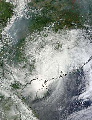 Ex-Tropical Storm Utor still raining on southern China