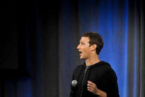 Facebook founder Mark Zuckerberg is pictured April 4, 2013