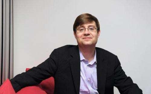 Facebook's vice president of media partnerships Justin Osofsky poses on December 4, 2012 in Saint-Denis, near Paris