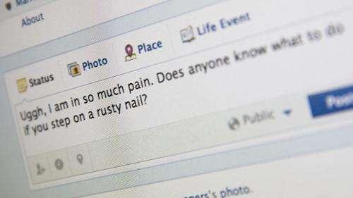 Feeling sick makes us less social online too