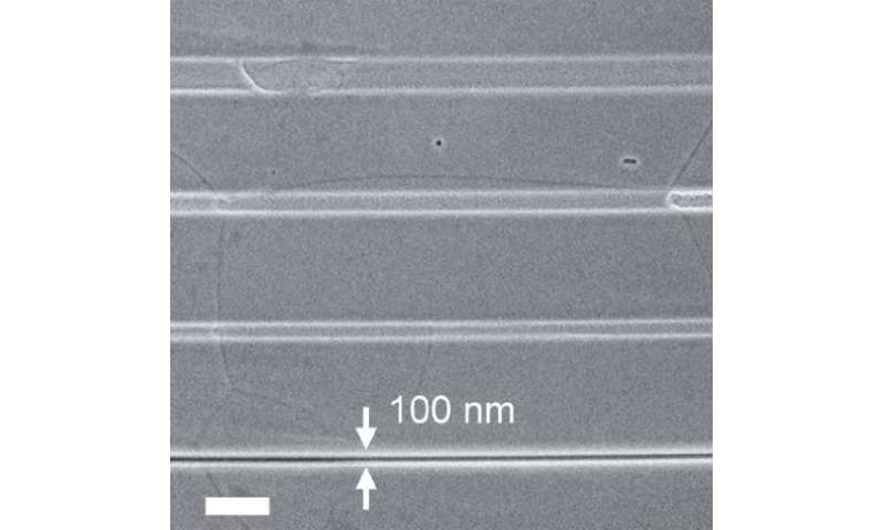 Fine patterns that combine single-atom-thick graphene, boron nitride point toward 2-D electronic devices