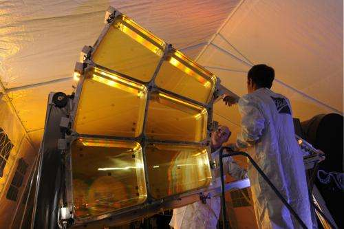 First folding space telescope