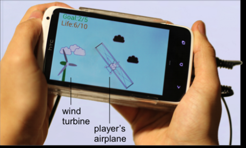 Force-feedback for smartphones tilts game-playing field (w/ video)