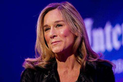 Former CEO of Burberry Angela Ahrendts pictured in London on November 9, 2010