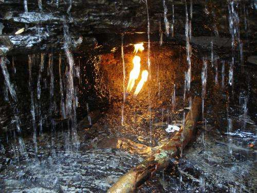 Geologists study mystery of 'eternal flames'