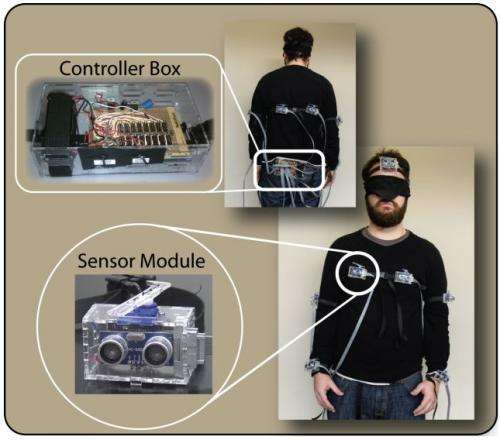 Wearable display meets blindfold test for sensing danger