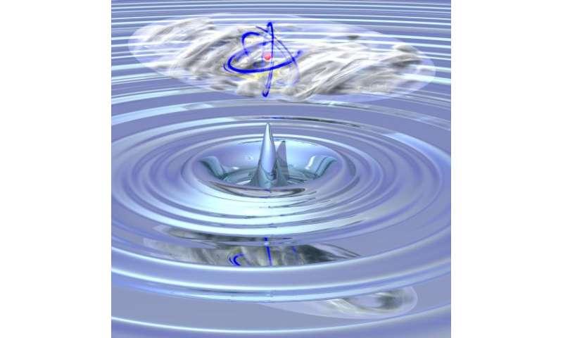 Giant atom eats quantum gas