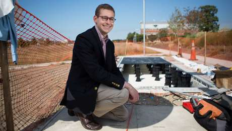 GW debuts solar walk on the Virginia Science and Technology Campus