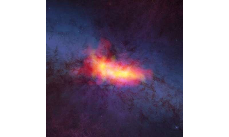 Hidden details revealed in nearby starburst galaxy