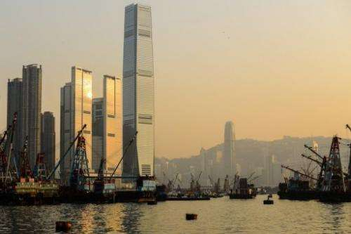 Hong Kong's skyline is shrouded in thick smog on January 9, 2013