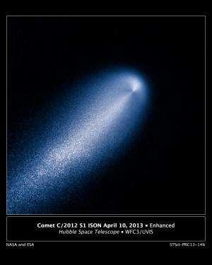 Hubble brings faraway comet into view