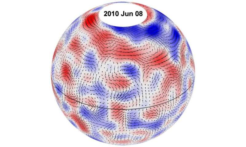 Researchers find giant convection cells on the Sun
