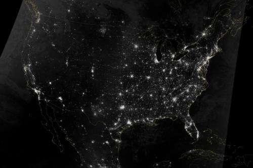 Image: U.S. holiday transportation web seen from orbit